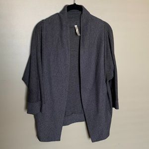 Ginger G grey 3/4 sleeve knit open cardigan